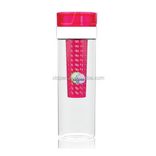 plastic my bottle with fruit infuser water bottle