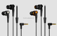 2015 super bass metal earphone for iphone/samsung s6 with shining package