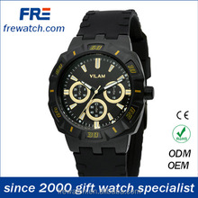 alloy rotational case silicon sports watch for man silicon strap sports watch man