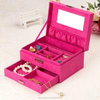 Mirrored jewelry box drawer handle, body piercing jewelry box key lock