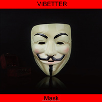 MK-V03 HOT Halloween Masquerade Face Mask V For Vendetta Guy Fawkes Fancy Dress Party Anonymous Masks