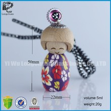 wohlesale polymer clay dolls oil bottle freshener