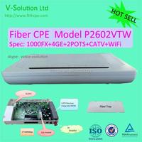 Best price 100/1000M uplink 4GE+2POTS WiFi CATV P2P CPE
