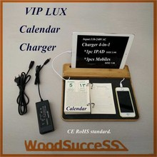 islamic calendar and mobile charger 4-in-1 PU calendar good quality many years experience