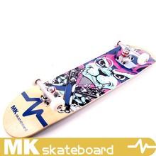 Hot selling MK SKATEBOARD maple skate board with 85A wheels