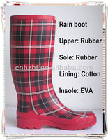 Plaid wellies for women,Rubber boot