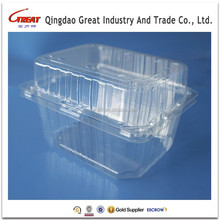 Plastic Salad Container Recyclable Vegetable Plastic Box Clear Plastic Fruit Packaging Box