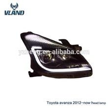 CE,E-Mark Headlight For Toyota Avanza 2012 Modified Led Angel Eyes