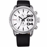 WEIDE Fashion Vogue New Custom Wrist Watch Leather Watch Case