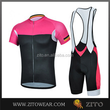 Wholesale customer pink bike shorts/cycling jersey silicon/cycling wear pink