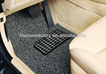 Hot sale double-color Anti-slip PVC Coil Car Mat with spike backing