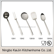 KJ-HH138 nessie ladle spoon and fork stainless steel kitchen utensils