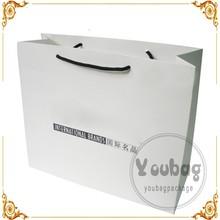 Popular shopping paper bag, shopping color paper bag, shopping gift paper bag