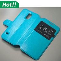 For Samsung galaxy S3 S4 S5 S6 mini flip leather cover window case with sleep function