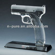 Vivid Crystal Gun Model for Home Decoration with Base