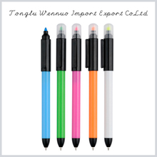Latest design superior quality retractable highlighter pen
