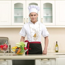 WT456 Short Sleeve Blouses Executive Chef Uniform Supplier in China Chinese Restaurant Uniforms Kitchen Wear