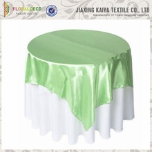 100% Polyester Upolstery Crystal Satin Party Table Cloth