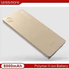 2015 world best selling products new arrival fashion high capacity 8000 mah slim emergency charger power bank