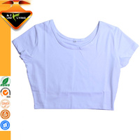 Womens White Custom Blank Crop Top Plain
