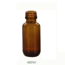 amber syrup glass bottle PP 18MM, 22MM, 24MM