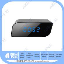 OEM-2015 New Mini Size Wifi Desk Clock Night Vision Camera/Wifi IP Nanny Spycam Camera