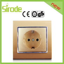 Sirode universal 2 P para socket color de lujo de diseño de pared eléctrico socket