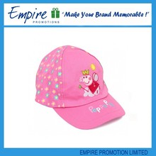 Pink lovely fashionable custom promotion top quality baby baseball caps