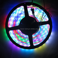 5m strip 60leds/m ws2812B led pixel addressable ideal color, WS2812 IC waterproof IP67 DC5V