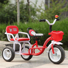 Lovely deisgn baby double trike/Environmental Kids Pedal Tricycle/China Tricycle Wholesalers
