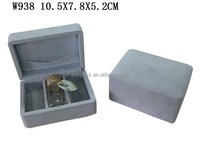 Wholesale Suede Velvet Micro Fabric Wrapped Perfume Bottle Box Packaging W938