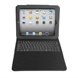 Leather Case + Bluetooth Wireless Keyboard For iPad 2
