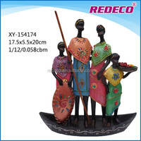 Resin African family figurine gift wholesale