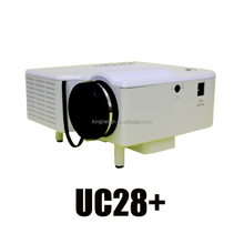 """Multimedia LED LCD Projector 24W PRO Portable Mini High definition Home LED Projector 60"""" Cinema Theater UC28+"""