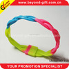 Newest arrival fashion colored sports silicone bracelets