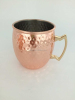 Solid copper Hammered Moscow Mule Copper Mug 16 Oz