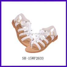 SR-15WF2633 new stylish women no heel sandals summer fashion ladies flat sandals 2015 cheap china wholesale sandals for girls