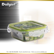 2015 Dailyart Plastic airtight food Square lunch box