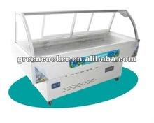 Curved glass deli showcase freezer OEM