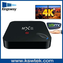 Orginal factory XBMC full loaded mxiii tv box quad core set top box digital tv tuner scart dvb t receiver with android 4.4 os