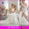 CE587 Latest Design Sexy Open Back Layers Organza White Brides Dresses