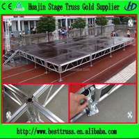 outdoor portable aluminum adjustable stage platform for small and large events