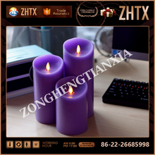 wholesale remote control artificial flame led candles with timer