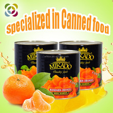 canned fruit of canned Mandarin Orange slice