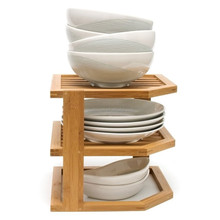 Home Basics Bamboo dish drainer Dish Rack Bamboo 3-Tier Corner Shelf