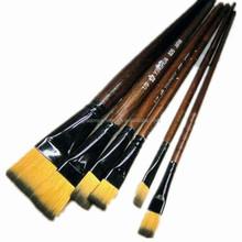 New product 6pcs per set aluminum ferrule painting brush for water color paint