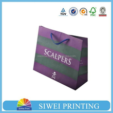 2015 professional custom Spring new luxury shopping paper bag for cloth newest style