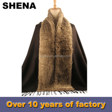 new style popular fox fur shawl scarf price