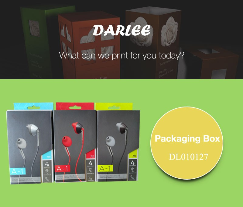 Embossed UV custom logo printed recyclable custom paper electronic gadgets packaging color box