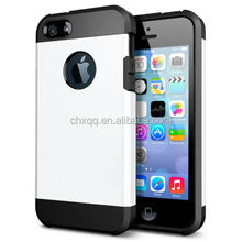 High quality wholesale Tough Armor Slim mobile phone case back cover for Iphone 5 / 5S